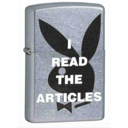 Zippo Sytytin Playboy I read the articles Kromi