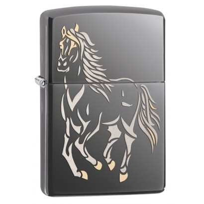 Zippo Sytytin Running Horse