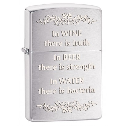 Zippo Sytytin In Wine There is truth
