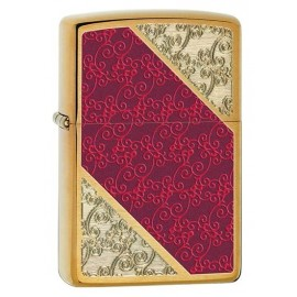 Zippo Sytytin Luxury Red Gold Scroll